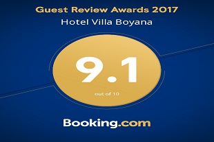Rating of Booking.com for year 2017!